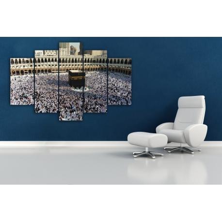 tableaux makkah en 5 parties l m deco. Black Bedroom Furniture Sets. Home Design Ideas